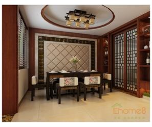 中式原木餐厅图