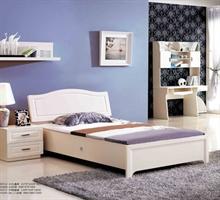 锴华家居——1.2米高箱床+床头柜+书架书桌+两门衣柜