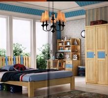 金鹏家具 1005床+床头柜+书桌+衣柜
