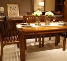 A家家具 E200-135实木餐桌+4椅