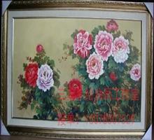 定制 高档纯手绘山水风景油画古典欧美式手工客厅风水有框装饰画