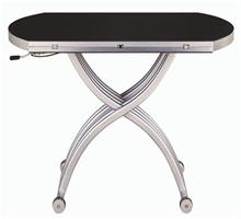 皇朝傢俬 三合一黑镜面餐桌
