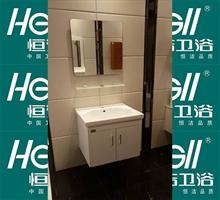 恒洁卫浴 现代简约洗手盆浴柜组合