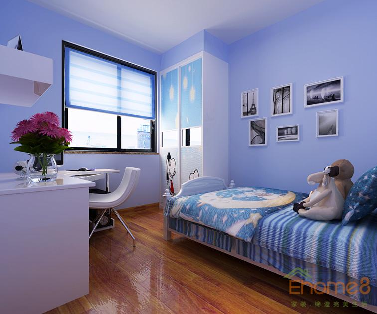 浅蓝色小清新风格儿童房装修效果图欣赏