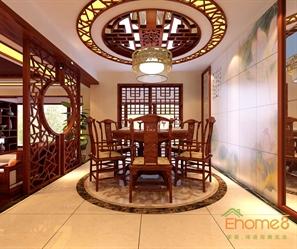 中式装修风格餐厅效果图