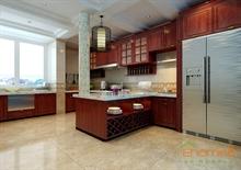 中式厨房效果图欣赏