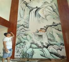 家装手绘墙,店面背景墙画