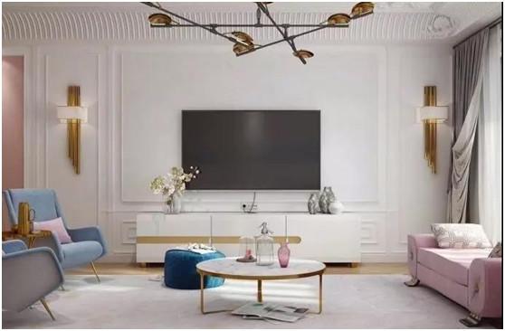 石膏线用途多 做电视背景墙美哭了
